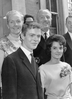 Max Mosley and his wife, Jean Taylor, on their wedding day in 1960, with his mother, Lady Diana Mosley, one of the famous Mitford sisters, and his father, Sir Oswald Mosley