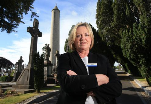 Tour Guide Bridget Sheeran pictured in Glasnevin Cemetery