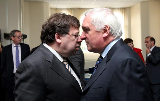 Political moves: Ahern with Brian Cowen in 2009