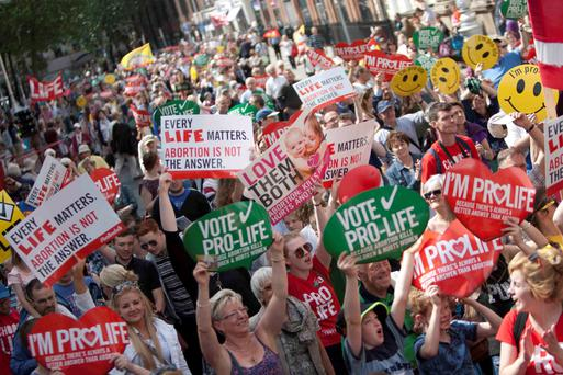 Right to protest: Pro life rally