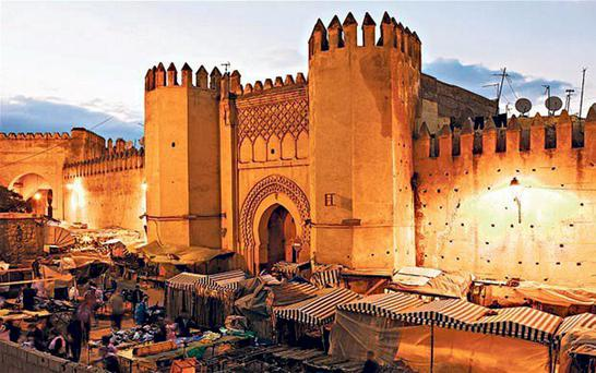 Gateway to another world: The El-Chorfa gate of the Medina.