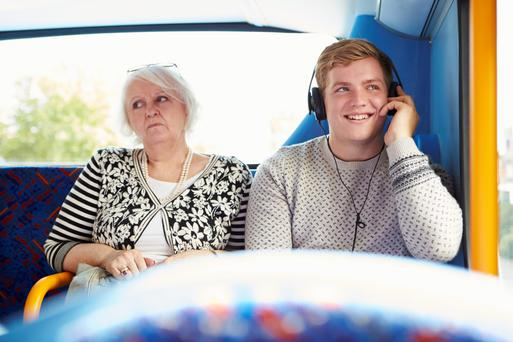 Annoyance: Loud music can make the daily bus or train journey hellish