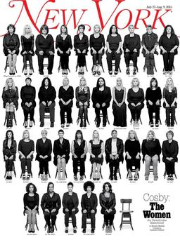 New York magazine cover featuring 35 women who accuse Bill Cosby of rape