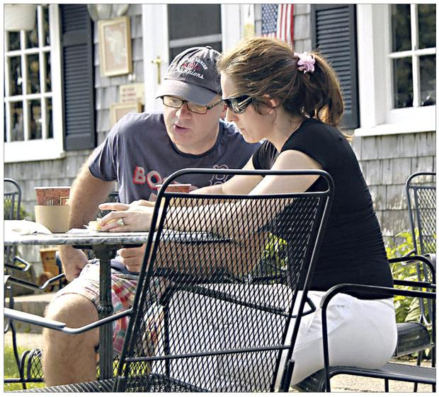 On the move: David Drumm with is wife Lorraine in Cape Cod