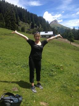 The hills are alive: Carol Hunt releasing her inner Julie Andrews in the spectacular surroundings of Tyrol
