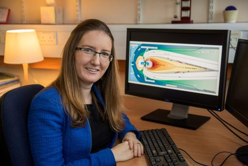Stellar career: Dr Caitriona Jackman is planetary scientist at the University of Southampton