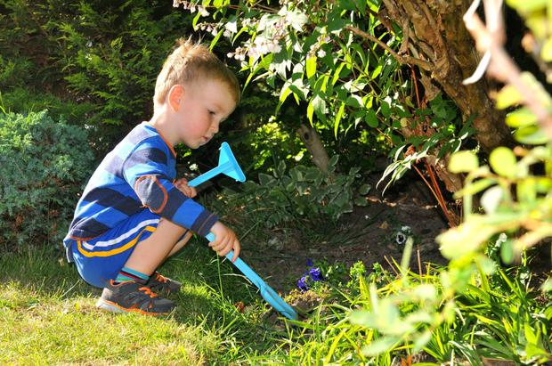 Gardening is a great way for parents and children to have fun together - and get some chores done.
