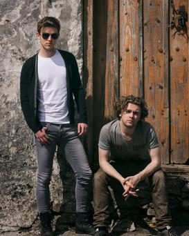 Rebels: Cian Ó Baoill, who plays Oisín, and Fionn Foley as Sully in the forthcoming TG4 series, Eipic