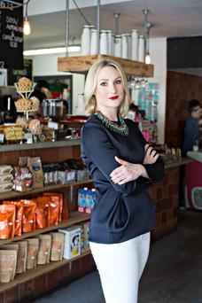 Living the dream: Despite studying English and Sociology, it was Katie Gilroy's interest in food which inspired her to open Urbun Café. Photo: Joanne Murphy