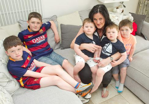 Josh, Charlie, Danny, Amy, Sam and Thomas Farrell, Eden Gate, Delgany, Co Wicklow. Picture: Garry O'Neill