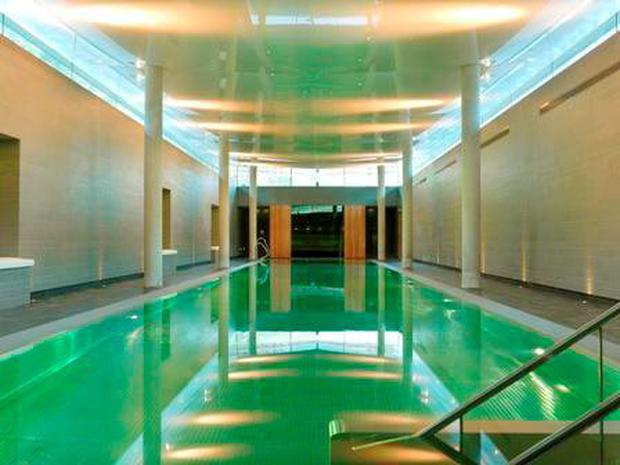 Splashing out: Taking a dip in the subterranean lap pool in the Park in Kenmare, brings back special memories.