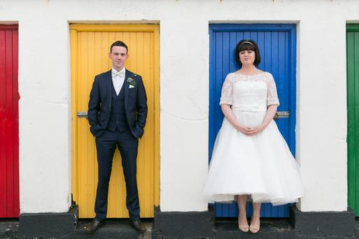 Fidelma Durkin and Francis O'Callaghan on their wedding day.