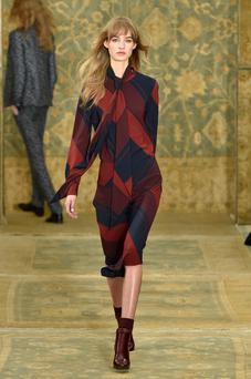 Tory Burch runway aw15. Photo: Getty images