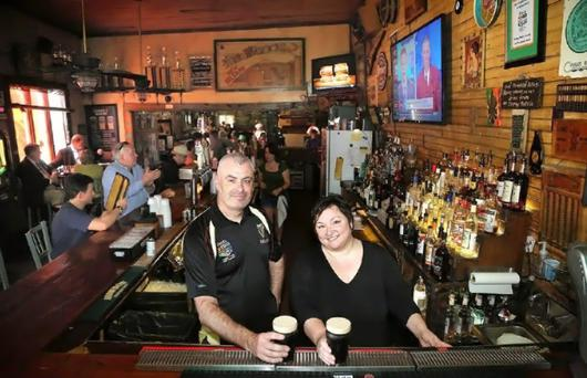 Stephen and Pauline Patterson rebuilt their bar, Finn McCool's, with help from the bar's newly formed soccer team