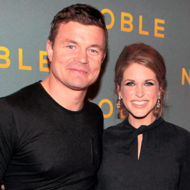 Dinner: Brian O'Driscoll and Amy Huberman were in Jamie's