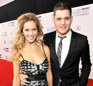 Michael Buble and wife, actress Luisano Lopilato.