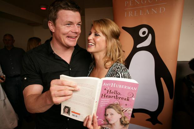 Support: Amy with husband Brian O'Driscoll at the launch of her book 'Hello Heartbreak'