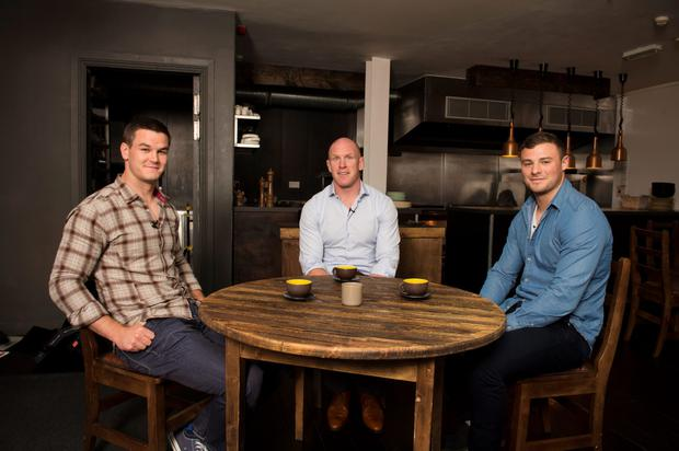 The 3 Ambassadors: Jonathan Sexton, Paul O'Connell and Robbie Henshaw.