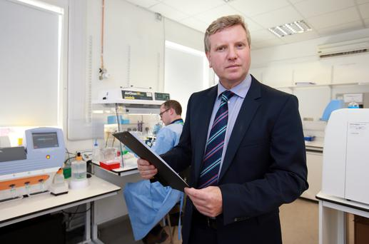 Prof Stephen Finn pictured in the Cancer molecular diagnostics lab [CMD] at St James Hospital. Pic Frank Mc Grath