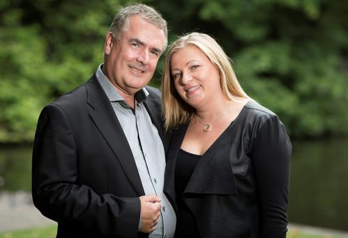 John Finucane and Marzena Ruzak became engaged six weeks ago in France and hope to get married next year, probably in Pioland. Photo: Fergal Philips.