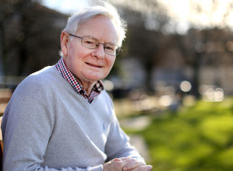 Living with cancer: Prof John Monaghan. Photo: Gerry Mooney.