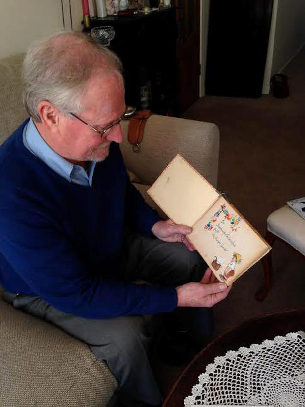 Seeing the world in colour again: Tony O'Herlihy with the vibrant Dankebuch