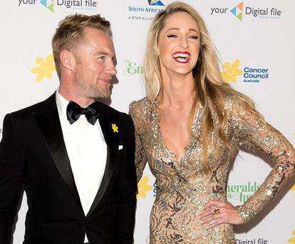 Tender moments: Ronan Keating and Storm Uechritz had a romantic sojourn in the K Club