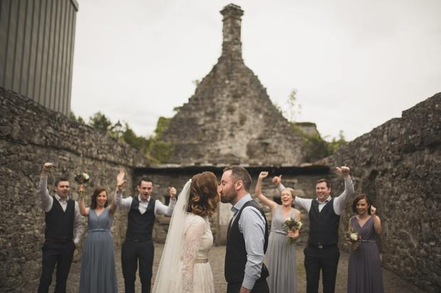 The couple chose Ballyglass Church for their ceremony before heading to Ashford Castle in Cong