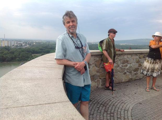On terra firma: Jerome Reilly on a stop off in Bratislava