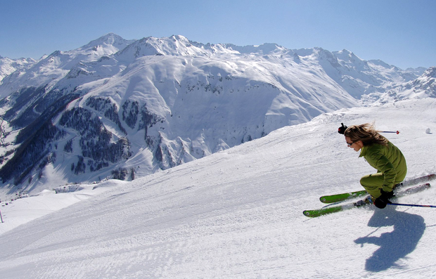 Whoosh: In late March, conditions at Val d'Isere were perfect: blue skies, lots of powdery snow and endless runs