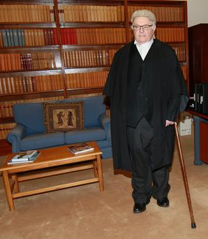 Larger than life: Mr Justice Paul Carney was a colourful and controversial character who had a somewhat eccentric liking for archaic courtroom traditions