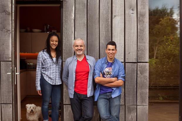 Family man: Colm O'Gorman with his daughter Safia (16) and son Sean (18) at their home in Co Wexford.