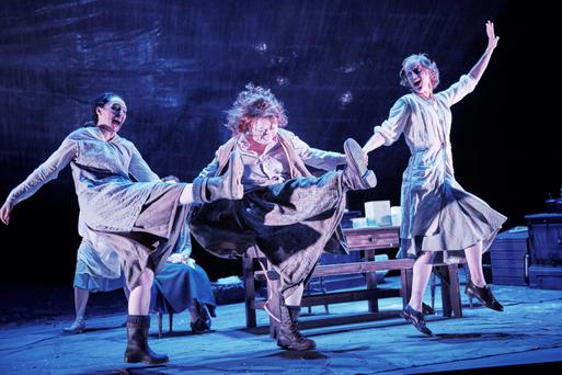 Explosive moment: Mary Murray, Cara Kelly and Catherine Cusack in Dancing at Lughnasa by Brian Friel. Photo: Ros Kavanagh.
