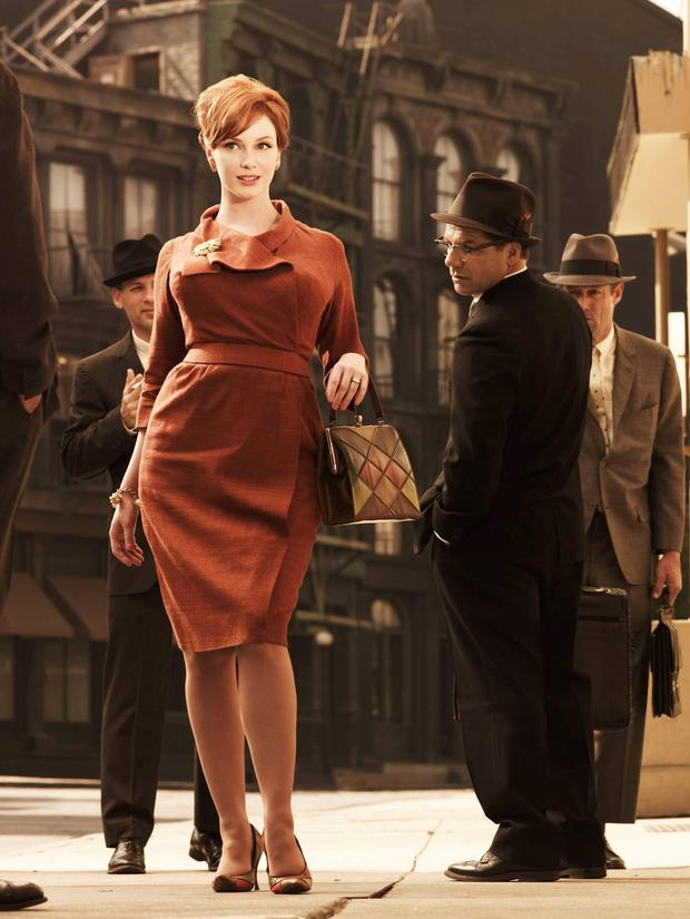 Christina Hendricks of 'Mad Men' in a '50s style dress.