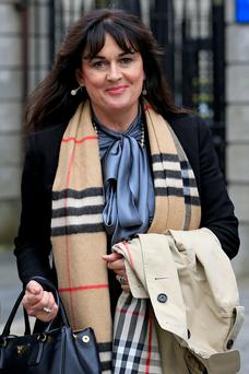 Michelle Rocca leaving the High Court.