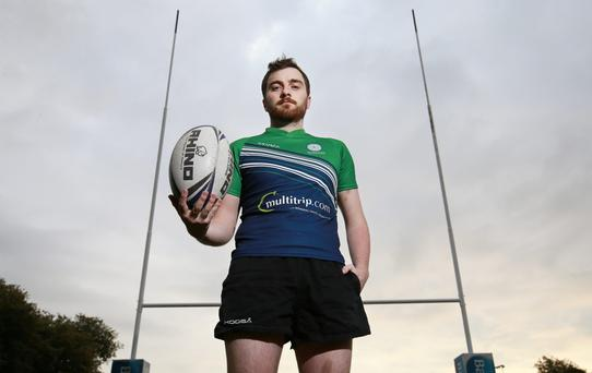 Rugby player Noel Noblett from Kilmainham pictured at the TCD rugby pitch.Picture Credit:Frank Mc Grath