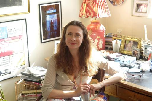 Playwright and actor Stella Feehily (45).