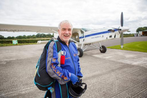 Skydiver Tommy Healy. Photo: Alf Harvey