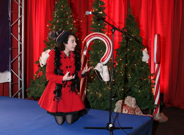 Jane O'Faherty at the Elf Factor auditions at Smock Alley Theatre