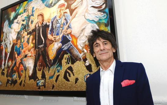 Ronnie Wood now lives in Clane.