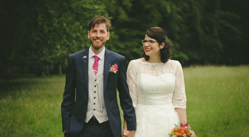 Shane and Teresa held a humanist ceremony in The Angler's Rest at Dublin's Strawberry Beds