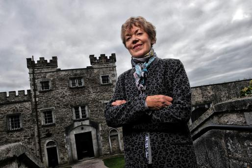 Lore of the land: Dr. Margaret Humphreys of the Folklore & Ethnology Department, University College Cork outside Cork City Gaol, Cork ahead of the World Ghost Convention. Photo: Daragh McSweeney.