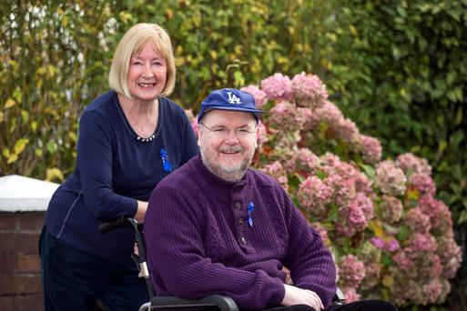 Long struggle: Tom Kindlon and his mum Vera, who is now his full-time carer.
