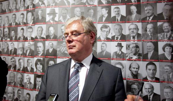 Former Labour Leader and Tanaiste Eamon Gilmore at a special celebration to mark the 100 years of the foundation of the labour Party. Photo: Brian Gavin