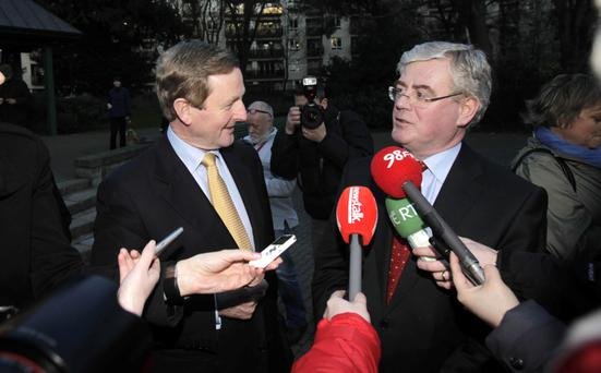 Media glare: Kenny and Gilmore announce they are to form a Coalition government