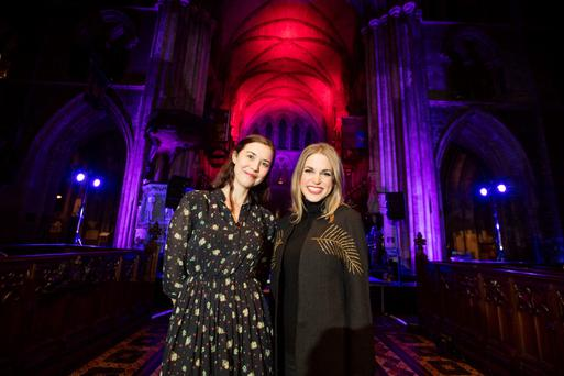Lisa Hannigan and Amy Huberman at Soundings in Dublin.
