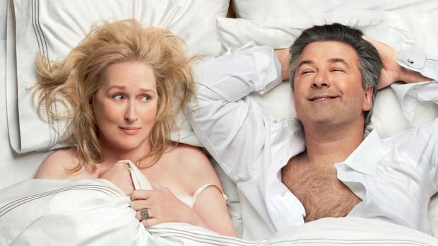 Rekindled passion: Meryl Streep and Alec Baldwin in 'It's Complicated'.