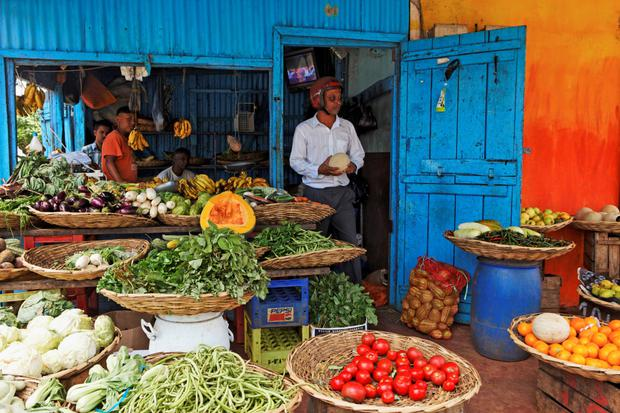 Vegetable and fruit shop in Mauritius