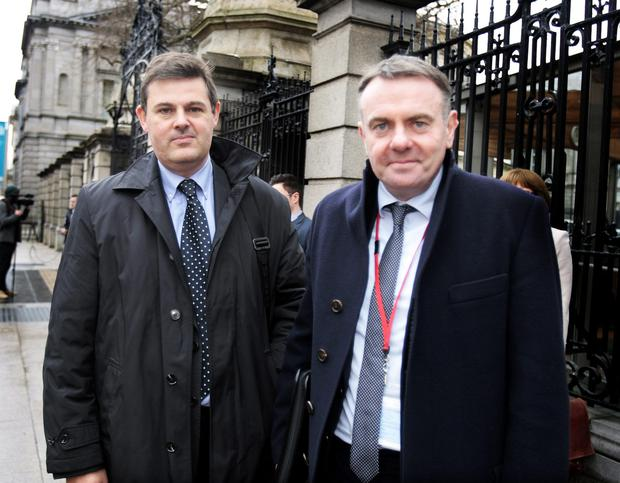Kudos: Kevin Bakhurst (left) is hot favourite to succeed Noel Curran (right).