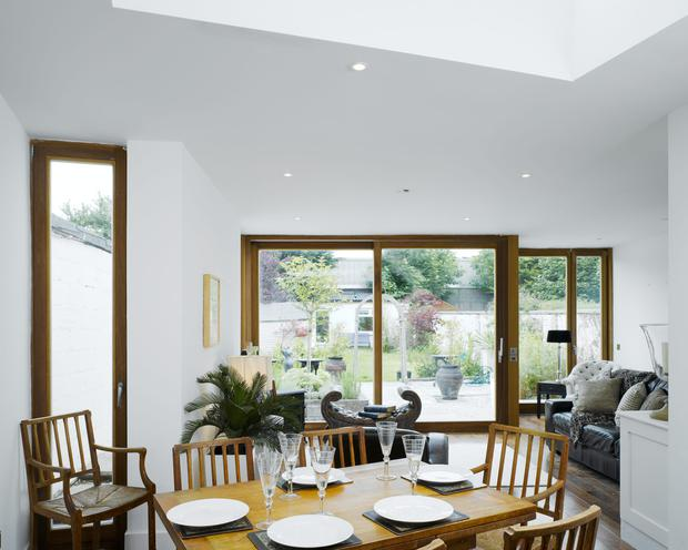Create a relaxing atmosphere for dining: Dermot Bannon Architects - photographer Ross Kavanagh